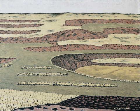 Paisaje de tierras rojas 1964-1967